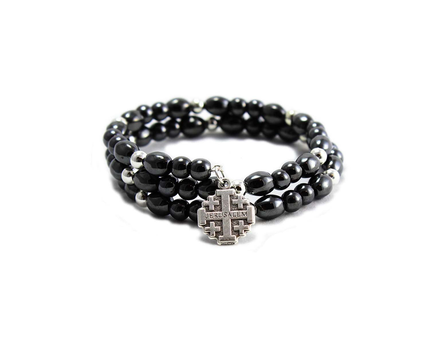 Bethlehem Handmade Hemitate Bracelet with Cross