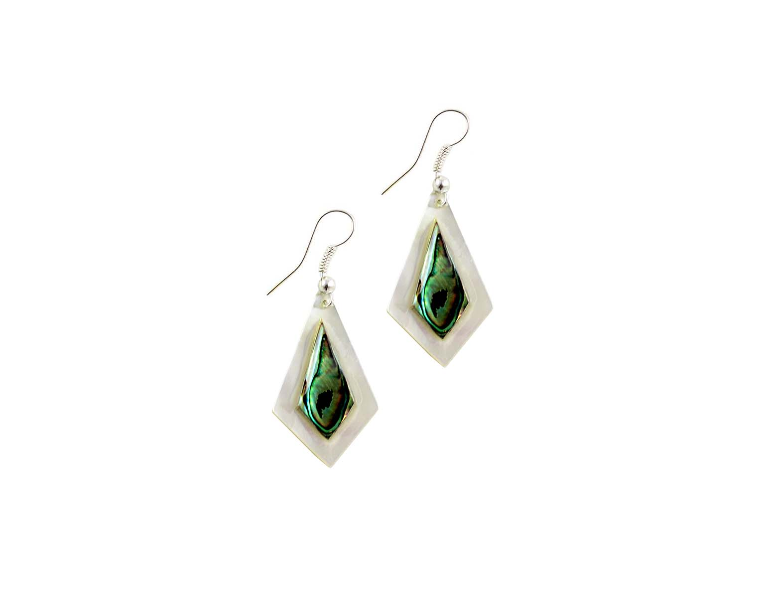 Mother Of Pearl Earrings J120 Holy Land Olive Wood