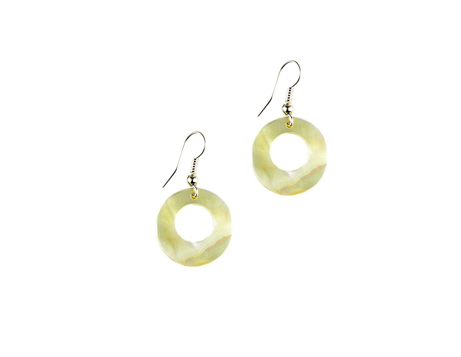 Mother Of Pearl Earrings J123 Holy Land Olive Wood